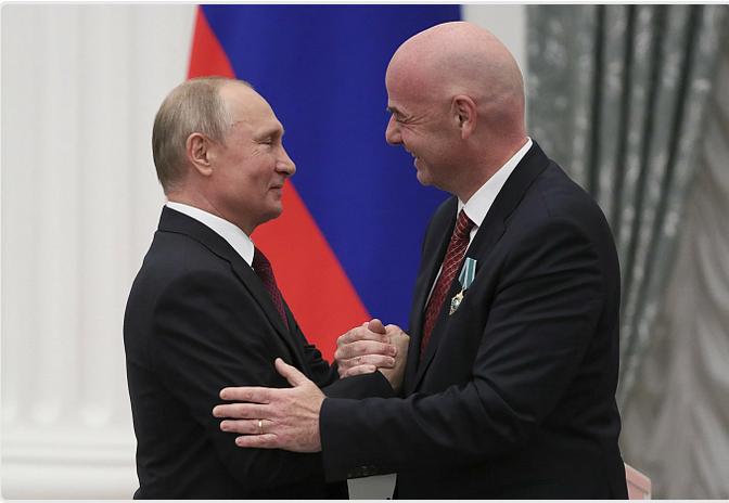Встреча Путина и президента ФИФА запланирована на 21.06.2021